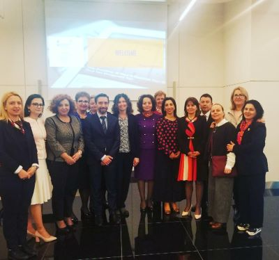 Albanian parliamentarians and local councilors during the study visit in Vienna on gender responsive budgeting.