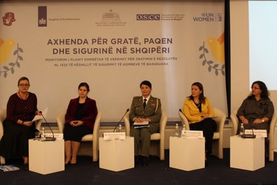 Panel Discussion on policy implementation of the Women Peace Security agenda in Albania. Photo: UN Women Albania/Kotaro Nakaoka