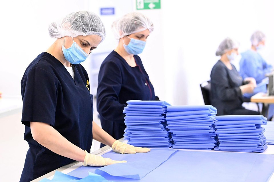 Women in Georgia are producing protective garments and masks for medical workers. Photo: Ministry of Economy and Sustainable Development of Georgia