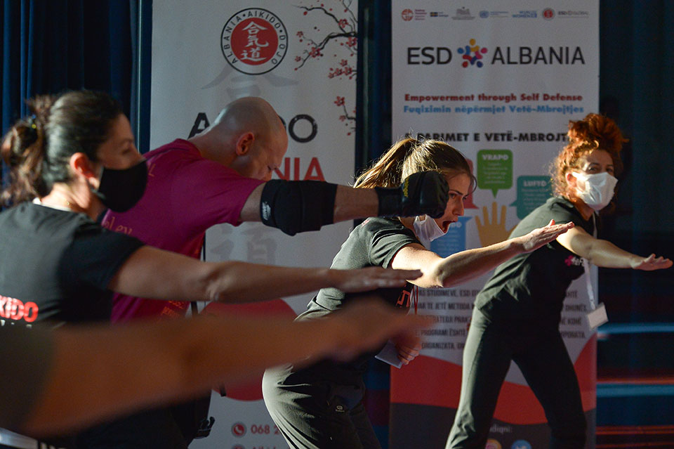 Activists and social workers from women's organizations received training of trainers on Empowerment through Self-Defense. Photo: UN Women