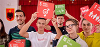 Photo: UN in Albania. Students in Albania participate at the Global Goals Week event