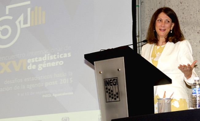 Speech by Luiza Carvalho during the XVI International Meeting on Gender Statistics