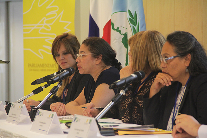 Women are central to prevent and reduce violence related to small arms and light weapons
