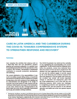 Cover Policy Brief Care Latin America and the Caribbean