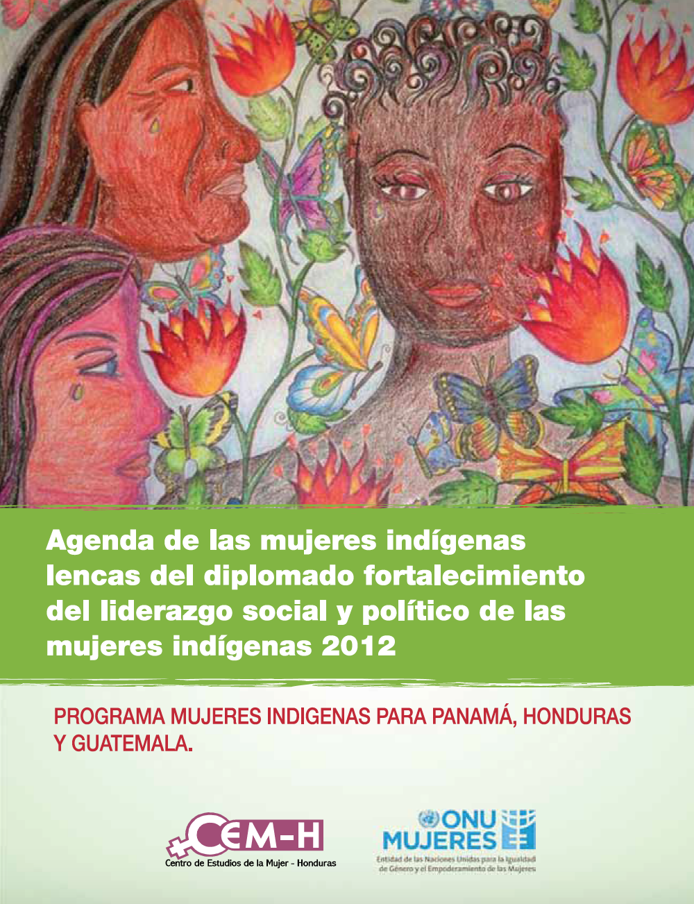 """Frame of the certificate, """"Strengthening the social and political leadership of indigenous women"""""""