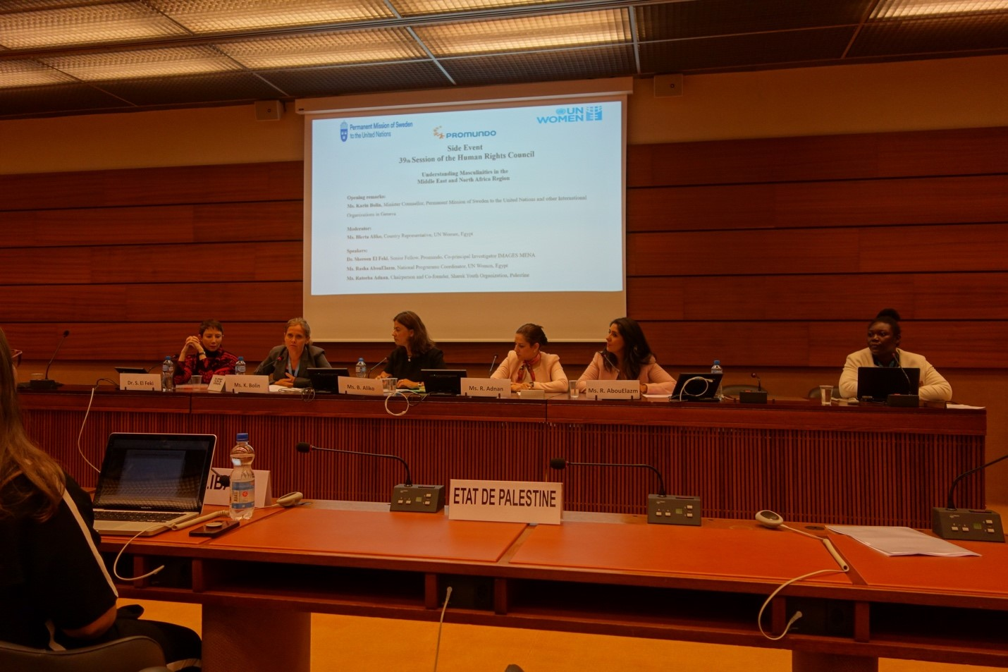 United Nations Human Rights Council event discusses masculinities in the MENA Region