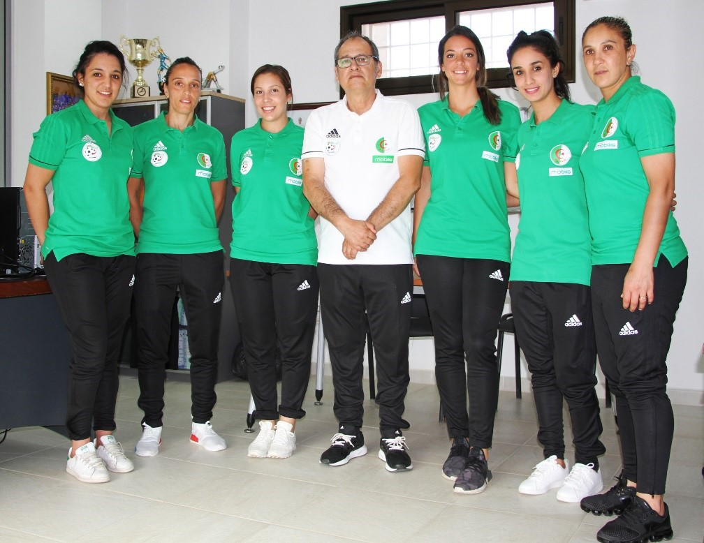 Algeria's female football team, playing football to break stereotypes.