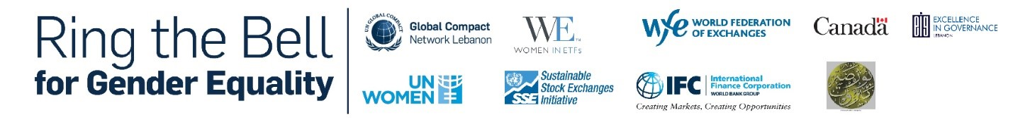 """Press Release: Beirut Stock Exchange """"Rings the Bell"""" for Gender Equality"""