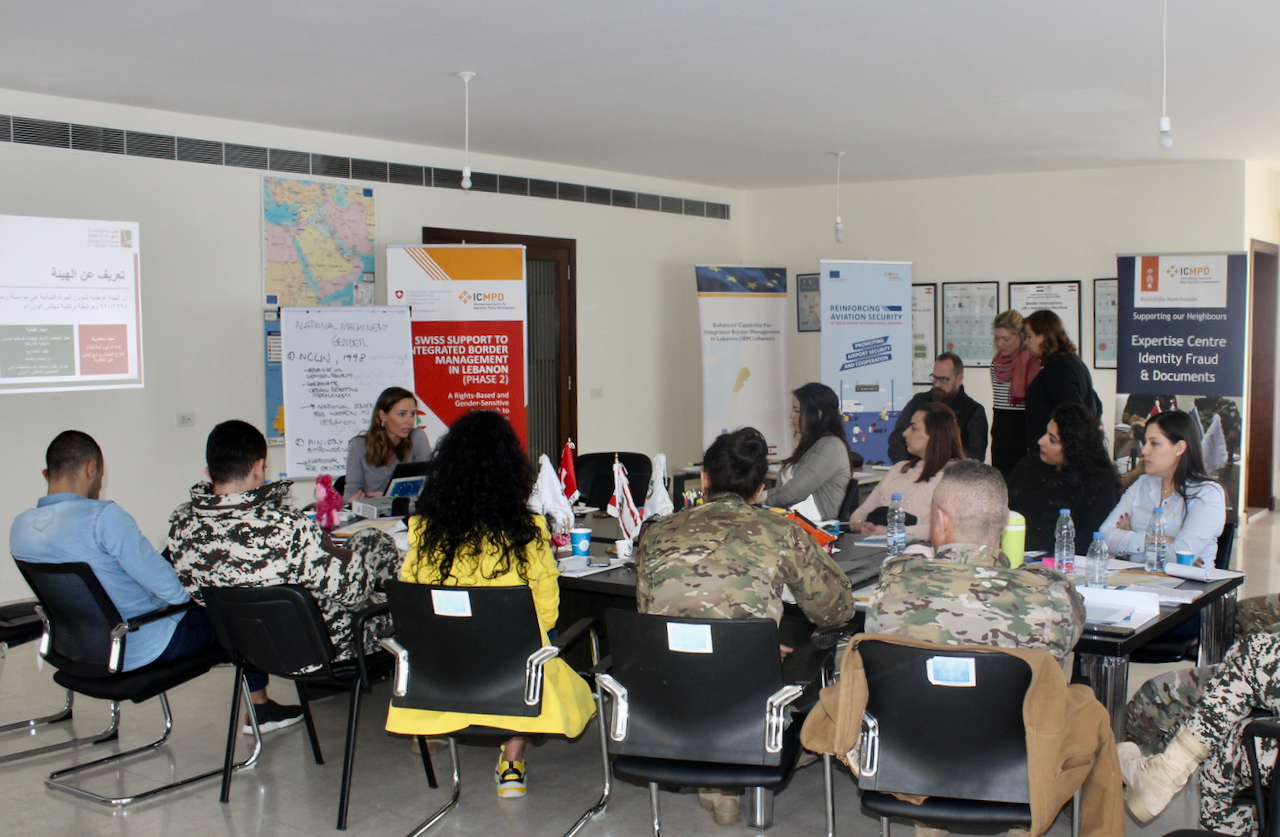 Members of Lebanon's Security Apparatus participate in awareness-raising sessions on gender-specific issues for more effective operations
