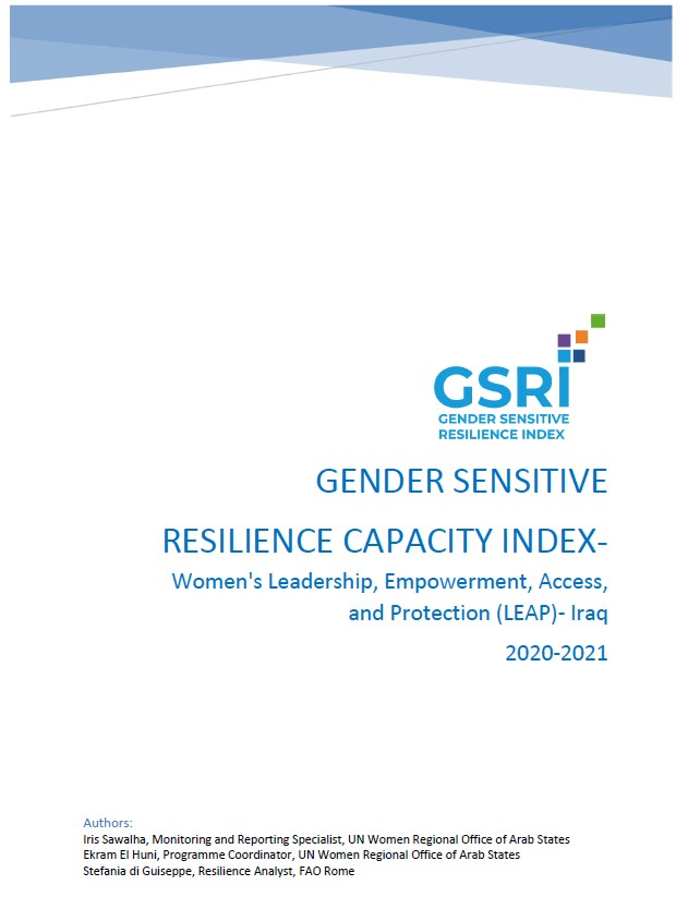 Gender-Sensitive Resilience Capacity Index: Iraq's Second Report on Resilience