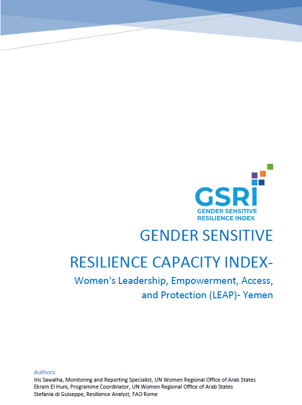 Gender-Sensitive Resilience Capacity Index: Yemen's First Report on Resilience