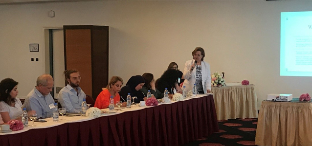 The joint meeting between UN Women and the Lebanese Ministry of Social Affairs in Beirut, Lebanon on 18 July. Photo credits: UN Women