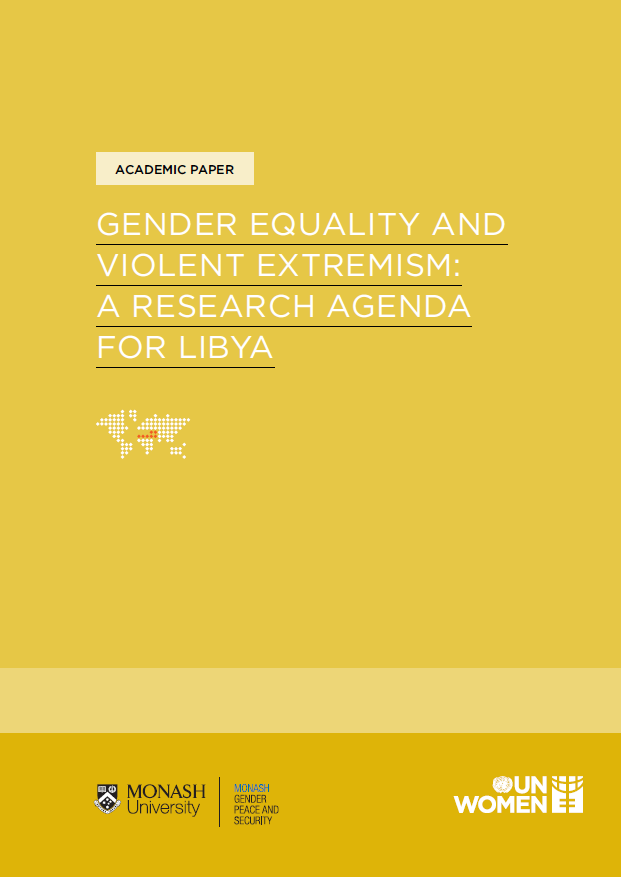 Gender Equality and Violent Extremism: a Research Agenda for Libya