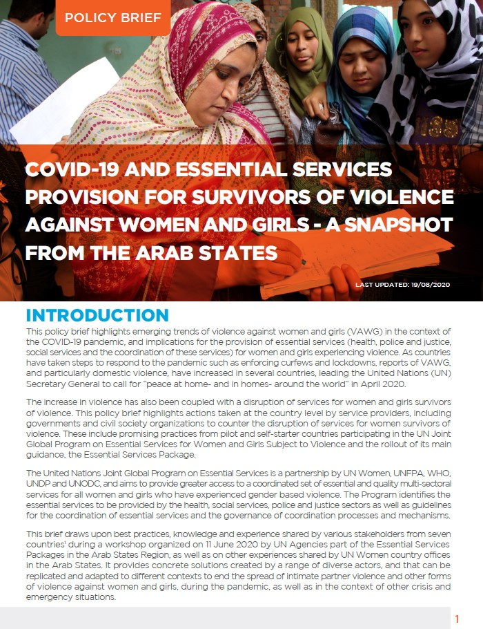 COVID-19 and Essential Services Provision
