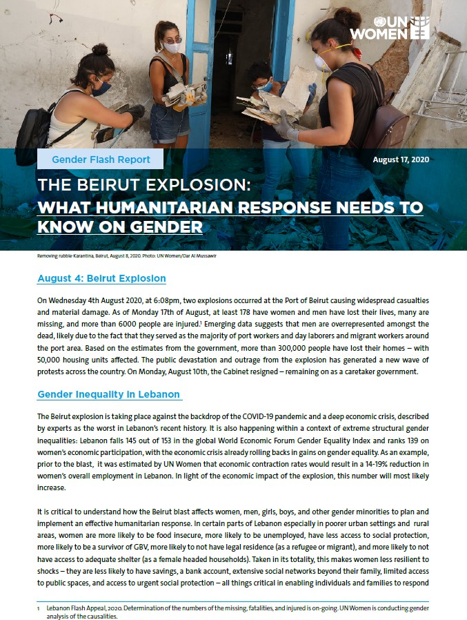 What Humanitarian Response Needs to Know on Gender
