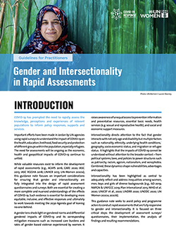 Gender and Intersectionality in Rapid Assessments