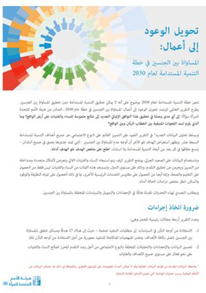 SDG report Factsheet Northern Africa Western Asia Arabic