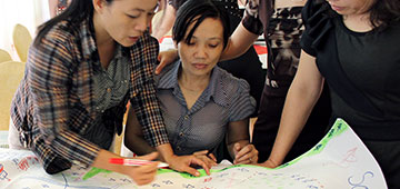 Lives saved in Viet Nam by involving women in disaster planning