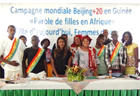 Girls' voices from Guinea join the Beijing+20 call