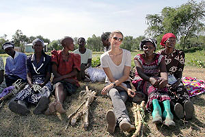 Gisele with women from Kisumu in Kenya
