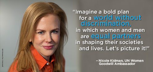 Nicole Kidman – Equality between women and men. Picture it!