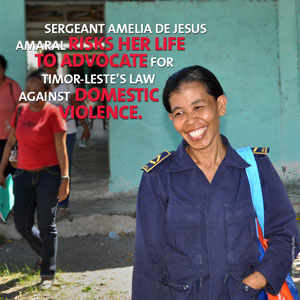 The unstoppable police officer of Timor-Leste