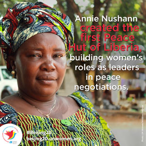 Building peace through women's leadership