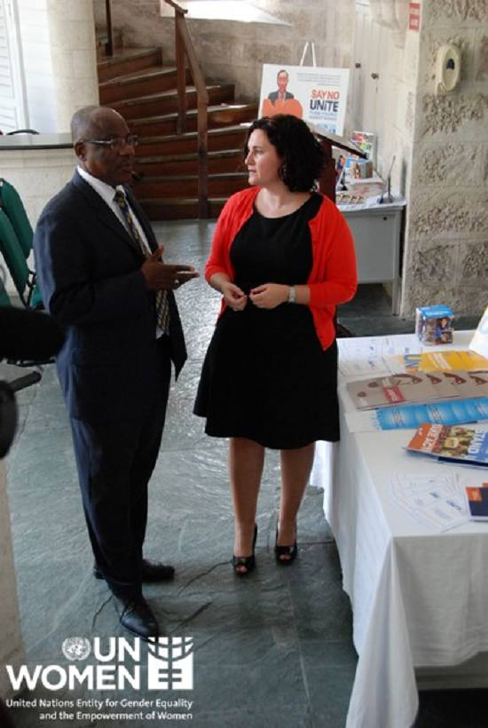 His Honour the Speaker of the Barbados Parliament Michael Carrington and UN Women MCO - Caribbean Representative, Christine Arab