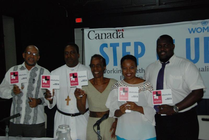 Panelists at the MCO Caribbean Step it Up for Gender Equality Town Hall