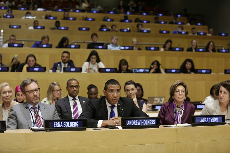Prime Minister Andrew Holness announces Jamaica's ratification of the ILO Convention C 189