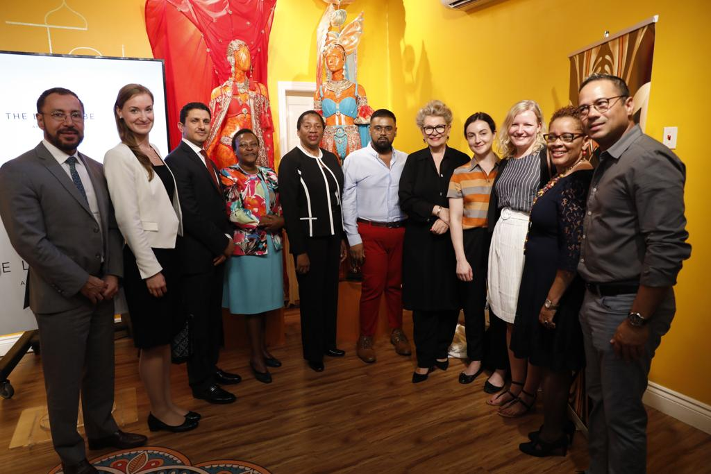 A delegation of the UN Women Executive Board and UN Women MCO Caribbean staff at the launch. UN Women Photo/Ryan Brown