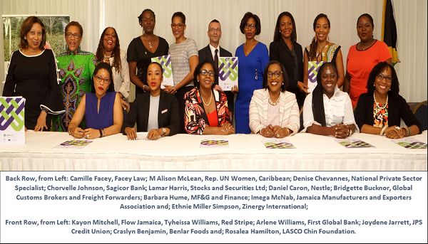 Jamaican Private Sector Companies Join UN Women Gender Equality Initiative