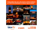 Orange lights take over Latin America and the Caribbean as a call for the elimination of violence against women