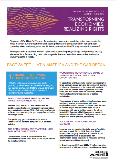 Fact Sheet - Latin America and the Caribbean
