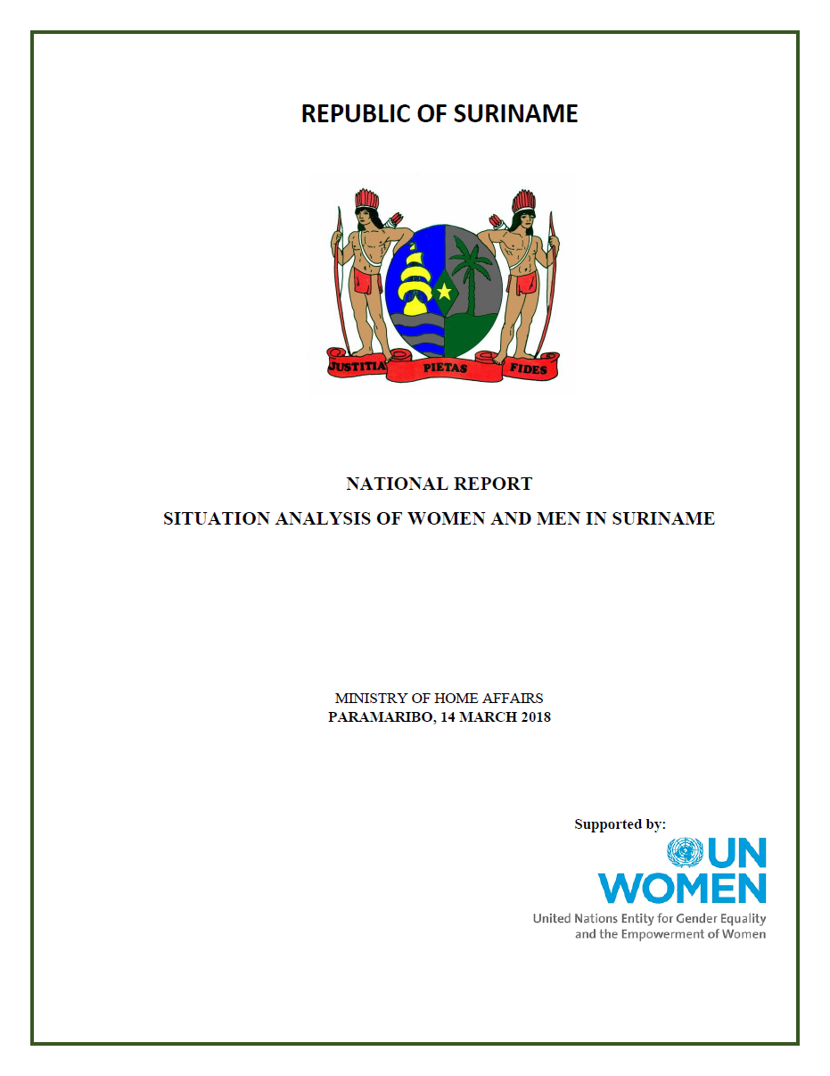 Suriname launches its National Report on the Status of Women and Men