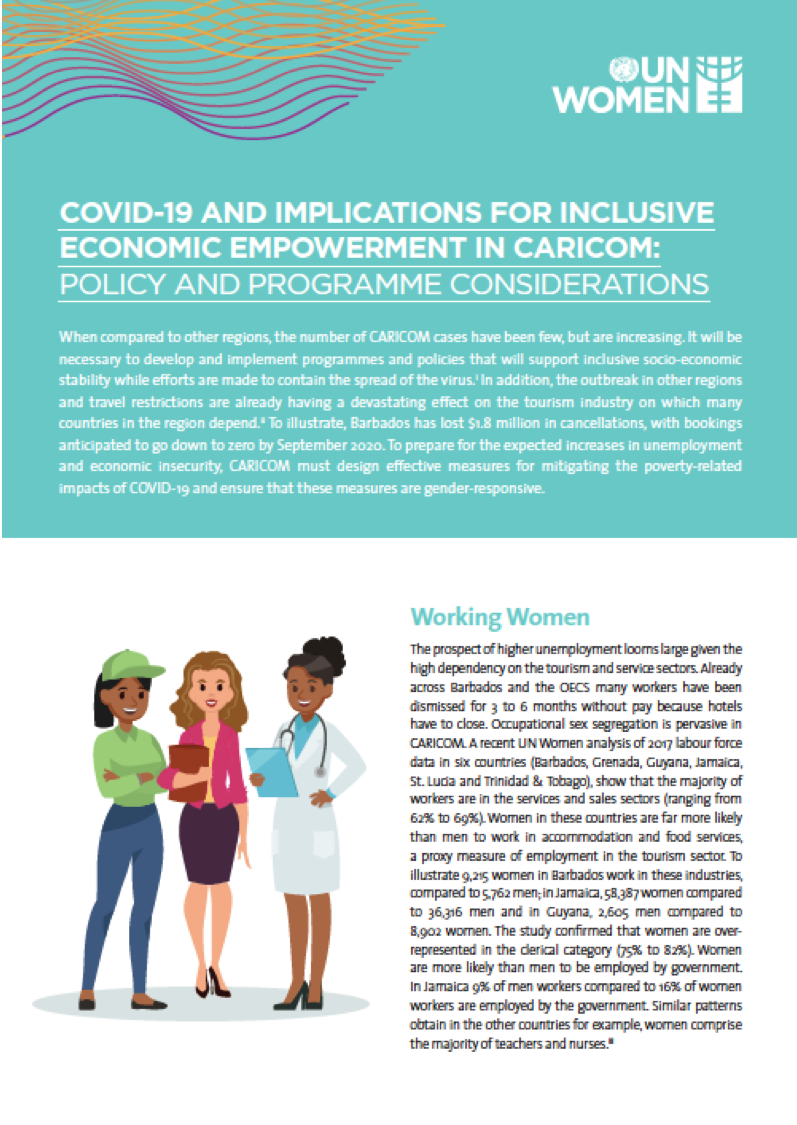COVID-19 AND IMPLICATIONS FOR INCLUSIVE ECONOMIC EMPOWERMENT IN CARICOM: POLICY AND PROGRAMME CONSIDERATIONS