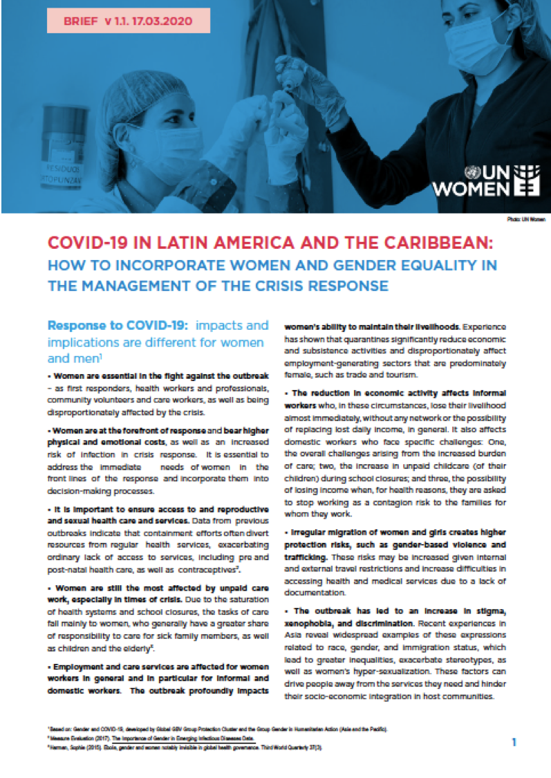 COVID-19 in Latin America and the Caribbean Cover Image