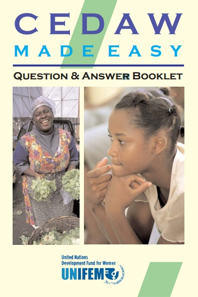 CEDAW Made Easy - Question-Answer Booklet