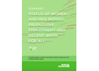 Summary Report - Status of Women and Men Report: Productive Employment and Decent Work for All