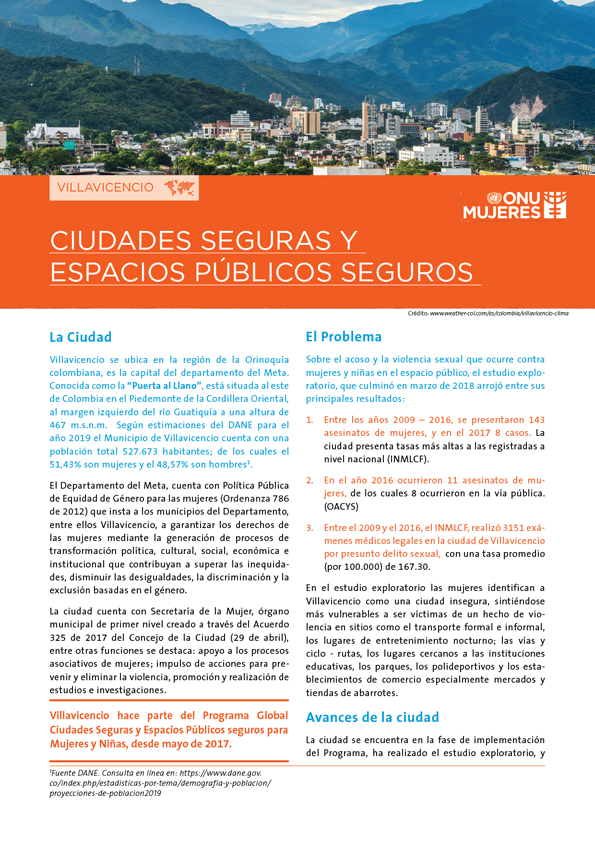 Fact Sheet Villavicencio