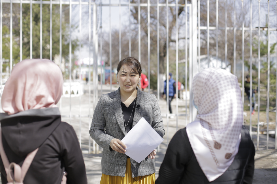 """Nuraim Khalilova is UN Women's """"Community for Sustainable Peace"""" project beneficiary from Osh city. Photo: UN Women/Askhat Chynaly"""