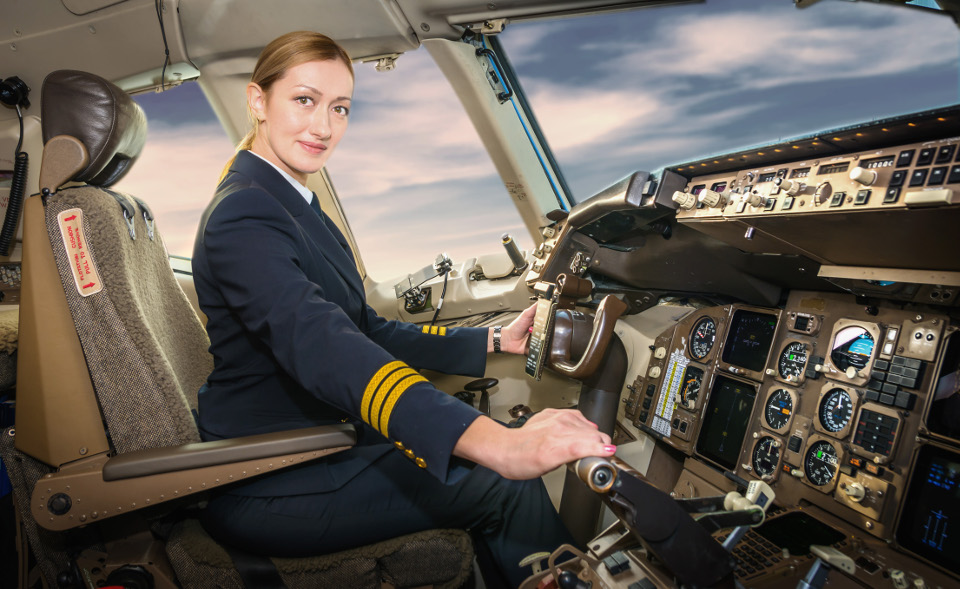 Natalia Linchenko, pilot. Photo: Air Astana
