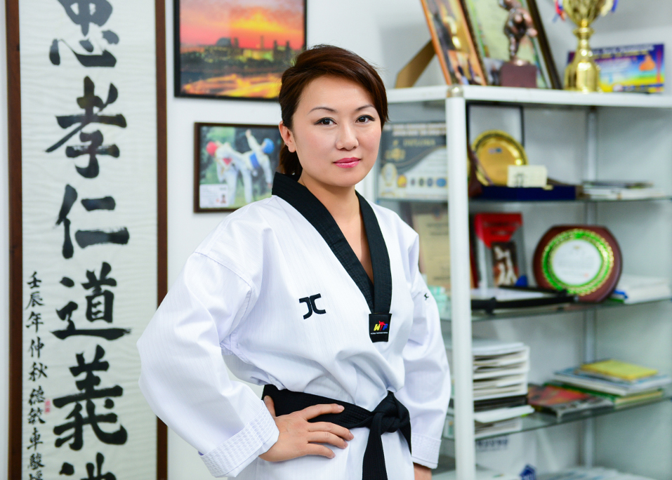 Svetlana Kahn, taekwondo coach. Photo: Korean Medical Centre