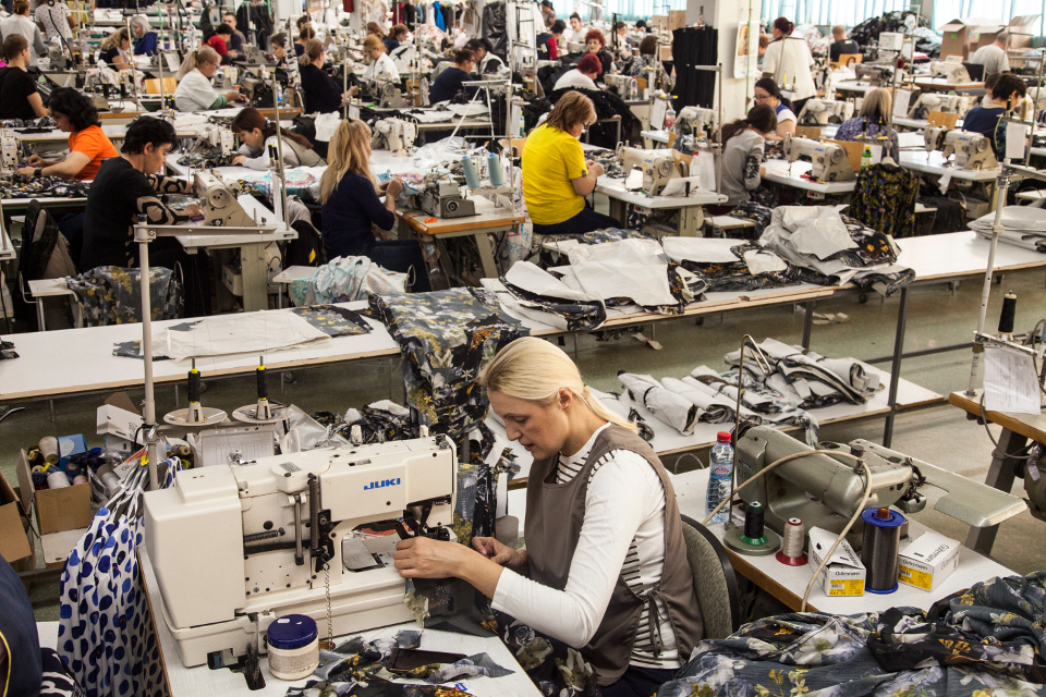 This textile factory in Shtip, in the south of the former Republic of Macedonia, employs about 120 women, who make textile garments mostly for Italian and German brands. Photo: UN Women Europe and Central Asia/Rena Effendi