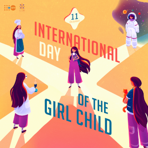 International Day of the Girl Child. Artist: Ia Ninoshvili/Forset