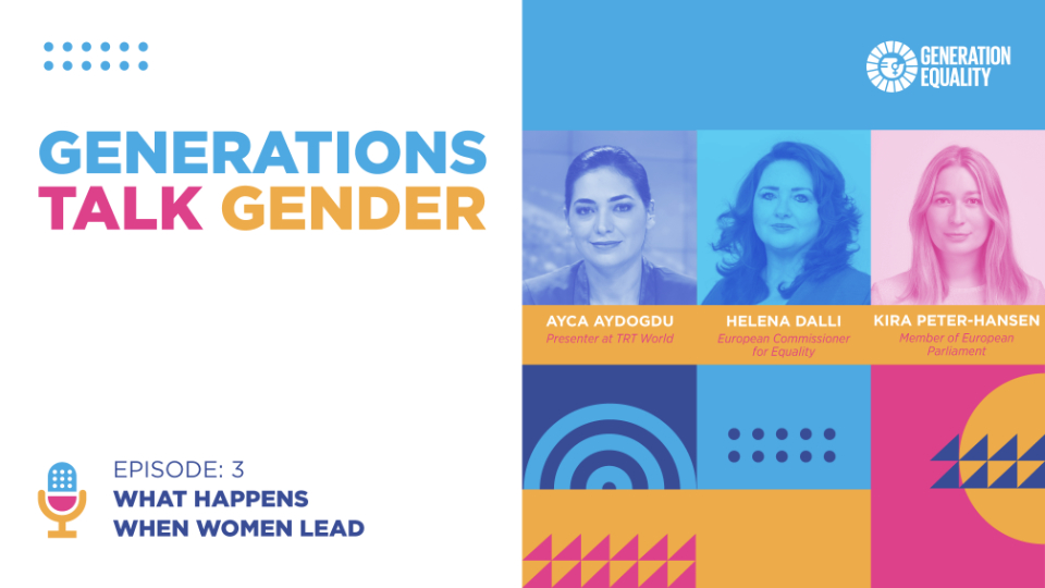 """The third episode of the Generations Talk Gender podcast titled """"What happens when women lead"""" is now online."""