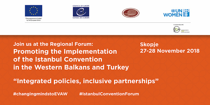 Media advisory: Promoting the implementation of the Istanbul Convention in the Western Balkans and Turkey