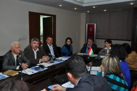 UN Women held a round table to announce nomination of the President of Tajikistan Taekwondo Federation to the UNiTE campaign Network of Men Leaders and call other sport federations to support and join the campaign