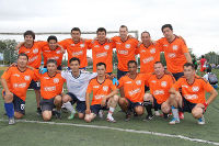 UN football team in Kyrgyzstan oranges their game in support of the UNiTE Campaign