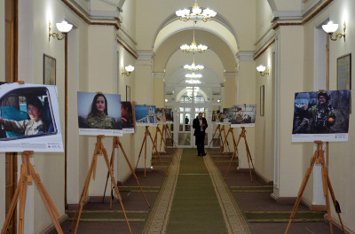 "The photo exhibition ""Women in Armed Forces in Ukraine"" has been opened at the Ministry of Defense on the eve of the International Women's Day"